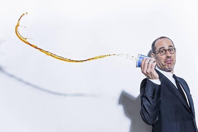 Jerry Seinfeld, que brilha no programa 'Comedians in Cars Getting Coffee', em sessão de fotos em Nova York