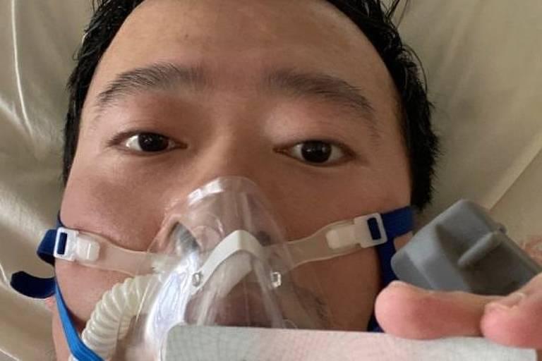 O médico chinês Li Wenliang, que tentou alertar colegas sobre a epidemia do novo coronavírus