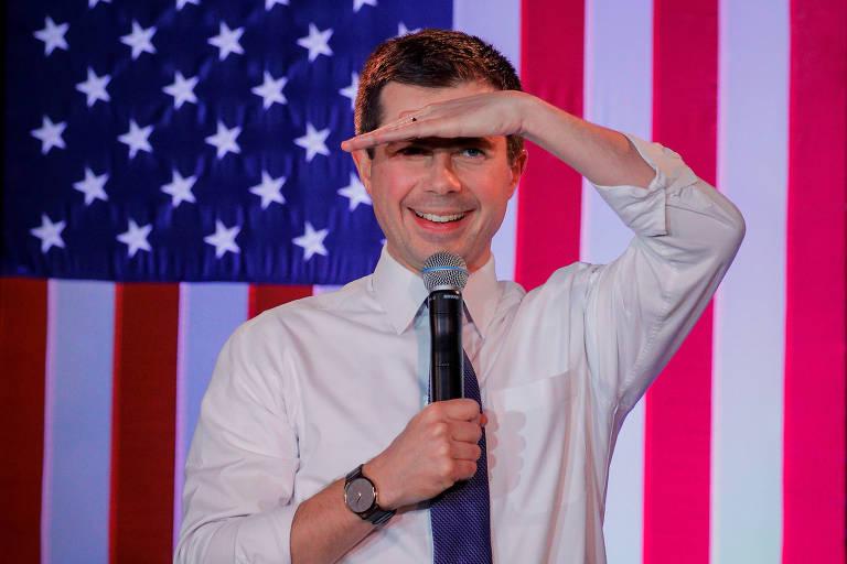 O democrata Pete Buttigieg, ex-prefeito de South Bend, em Indiana