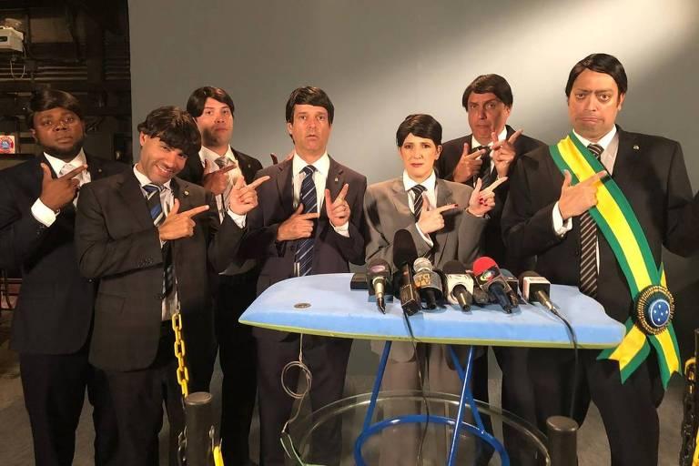 O clique dos nossos candidatos a imitadores: teve Dani Calabresa, Fernando Caruso, Léo Castro, e muito mais!