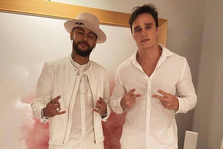Neymar e o amigo, o personal Norton Mello