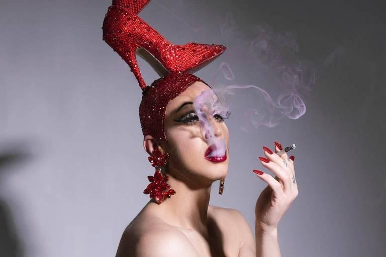 A drag Brooke Lynn Hytes que é atração principal na festa Priscilla
