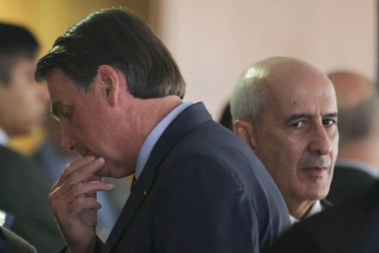 O presidente Jair Bolsonaro e general Luiz Eduardo Ramos, da Secretaria de Governo