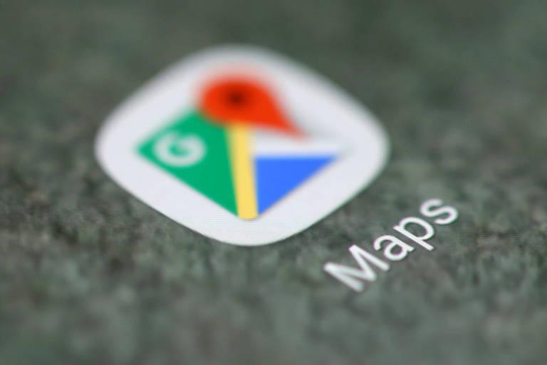 Logo do Google Maps em smartphone