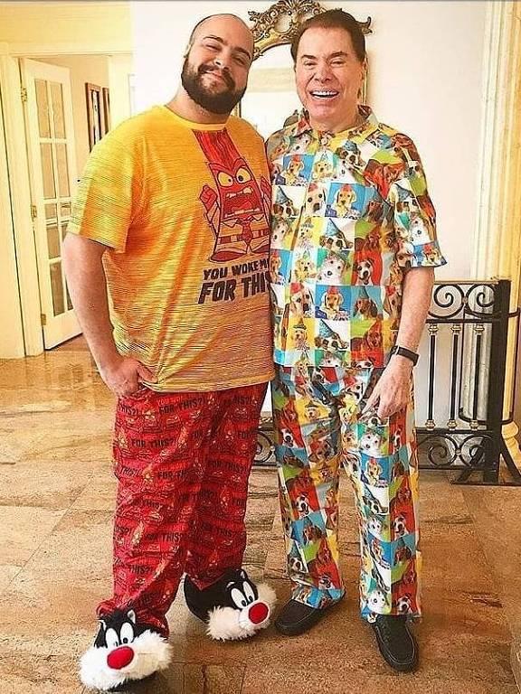 Silvio Santos e o neto, Tiago Abravanel