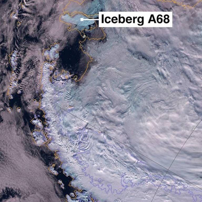 A separação do iceberg A68