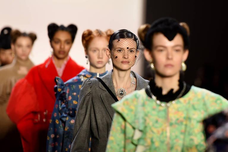 Modelos na Semana de Moda em Nova York 2020