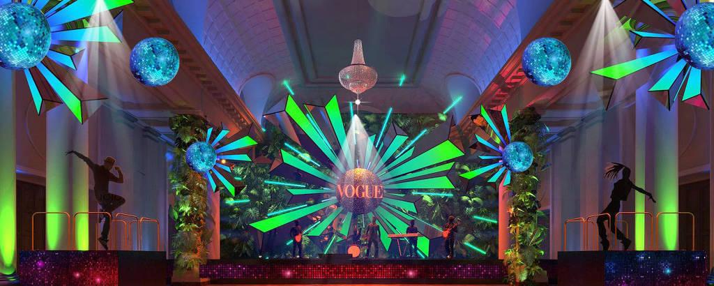 Perspectivas do Palco Crystal do Baile da Vogue 2020