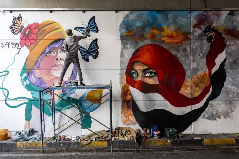 No Iraque, arte floresce em meio aos protestos contra o governo