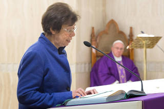 Italian lay woman Francesca Di Giovanni, who was named by Pope Francis as the first woman to hold a high-ranking post in the Vatican's Secretariat of State, is pictured at the Vatican