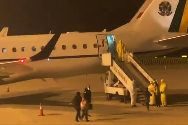 Avião da Força Aérea Brasileira (FAB) enviado à China para resgatar brasileiros na área mais afetada pela epidemia de coronavírus