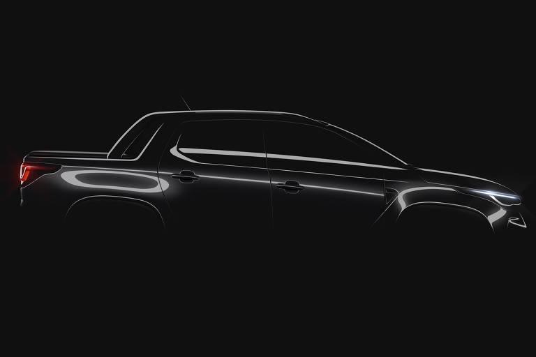 Teaser da Fiat Strada 2021