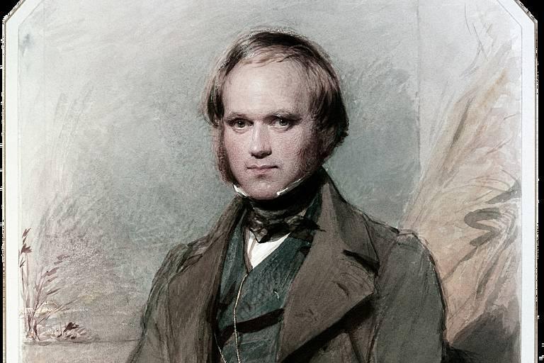 Retrato de Charles Darwin sentado