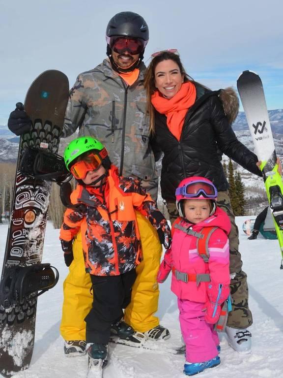 Patrícia Abravanel esquia