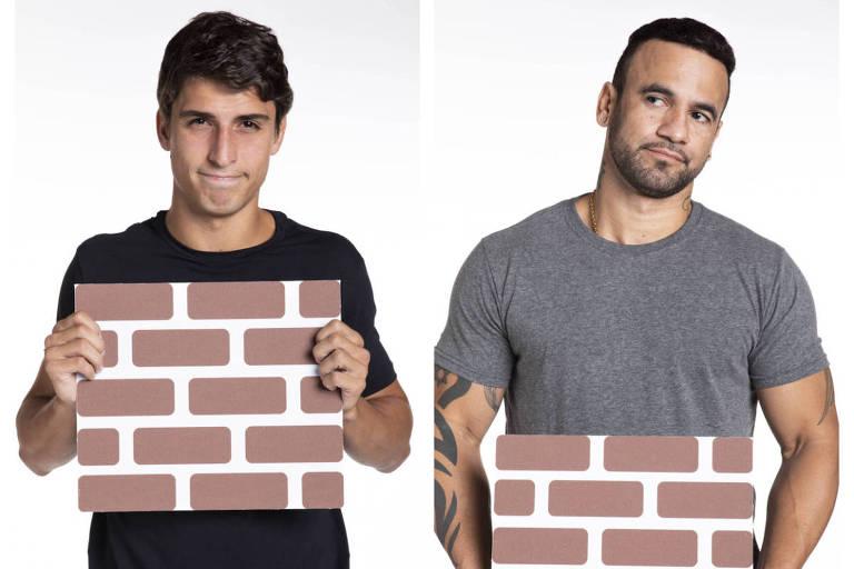 Felipe e Hadson estão no terceiro paredão do BBB