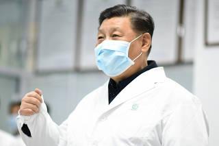 CHINA-BEIJING-XI JINPING-CONTROL CORONAVIRUS-INSPECCION