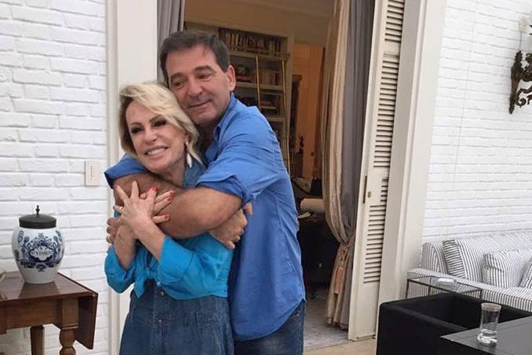 Ana Maria Braga e o marido Johnny Lucet