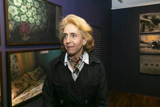Lygia da Veiga Pereira durante abertura da exposição
