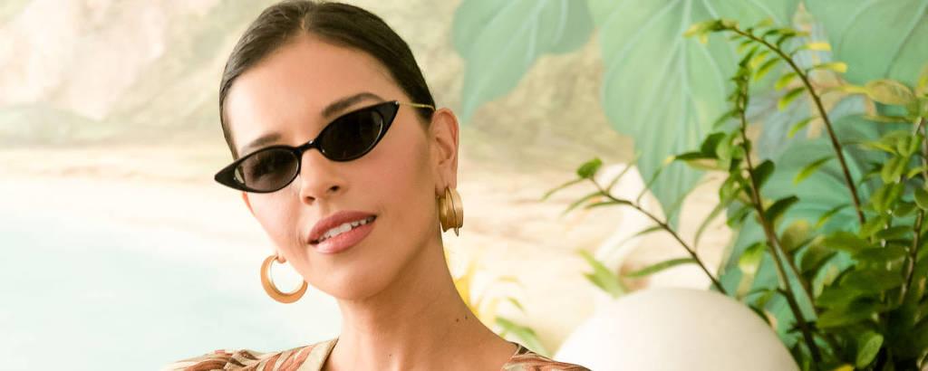 A atriz Mariana Rios durante lançamento do Camarote Allegria, no Copacabana Palace