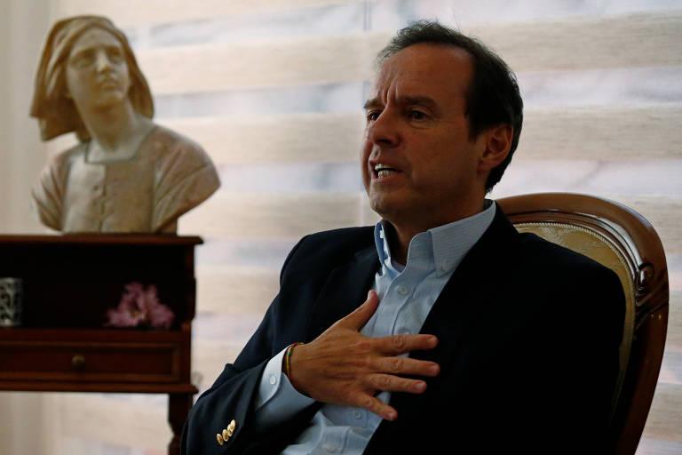 O ex-presidente da Bolívia Jorge Quiroga, em La Paz
