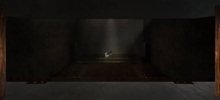 auditório escuro