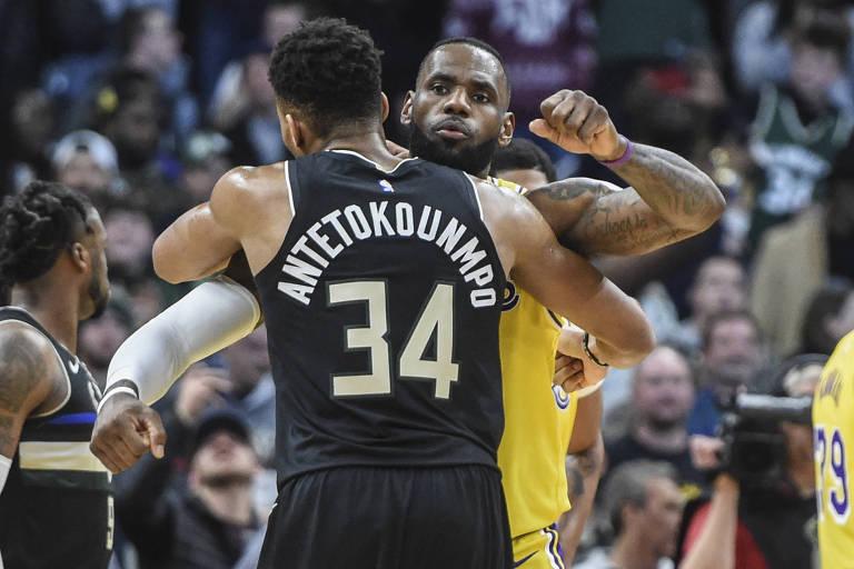 LeBron James e Giannis Antetokounmpo comandam os times do Jogo das Estrelas