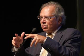 O ministro da Economia, Paulo Guedes, faz palestra de encerramento do Seminário de Abertura do Legislativo de 2020