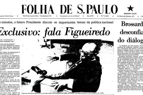 Último presidente general da Ditadura concedeu entrevista exclusiva à Folha