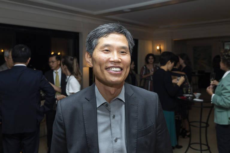 Coquetel em comemoração à premiação do filme 'Parasita' no Oscar 2020
