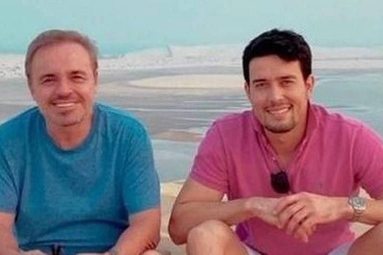 Gugu Liberato e Thiago Salvático, que reivindica condição de companheiro do apresentador