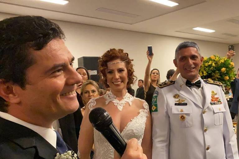 Casamento da deputada Carla Zambelli com o coronel Aginaldo de Oliveira
