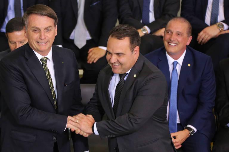 O presidente Jair Bolsonaro e Jorge Oiiveira, ministro-chefe da Secretaria-Geral da Presidência