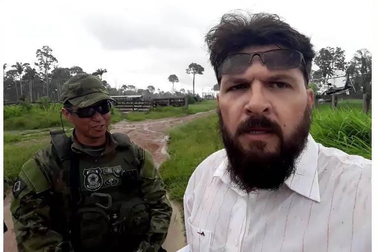 O antropólogo e militante bolsonarista Edward Luz foi detido neste domingo (16) ao tentar impedir a fiscalização do Ibama dentro da Terra Indígena Ituna Itatá, na região de Altamira (PA).