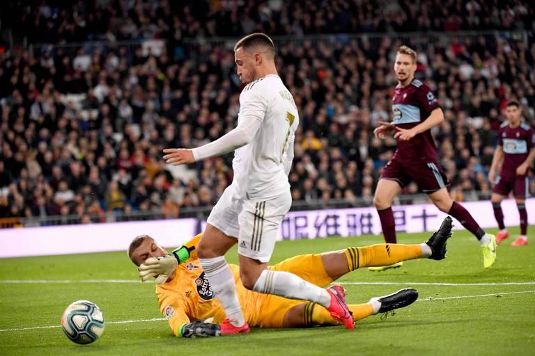 Hazard volta, mas Real Madrid só empata em casa contra o Celta