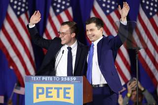 Presidential Candidate Pete Buttigieg Holds Primary Night Event In Nashua, NH