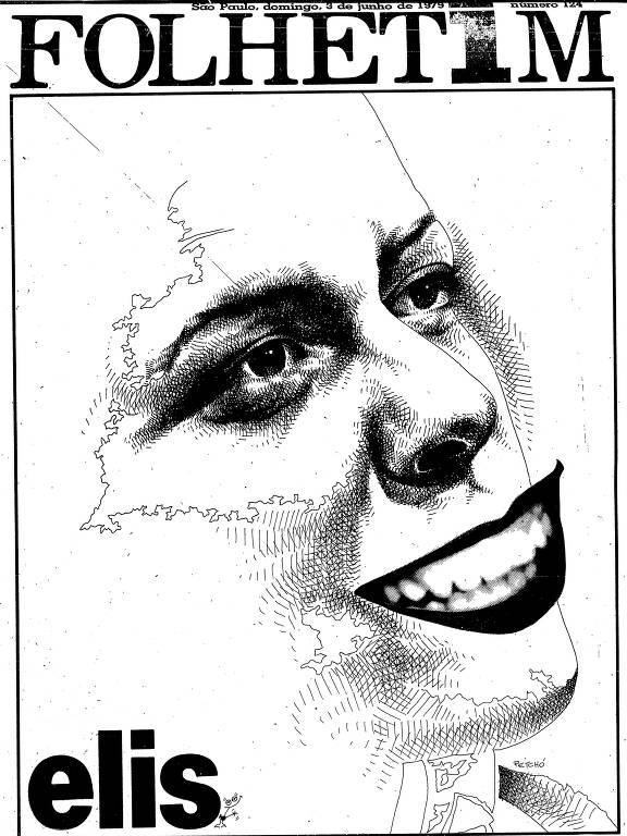 Ilustração do rosto de Elis Regina