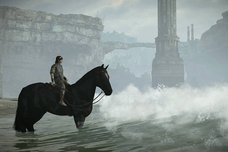 Cena do jogo 'Shadow of the Colossus'