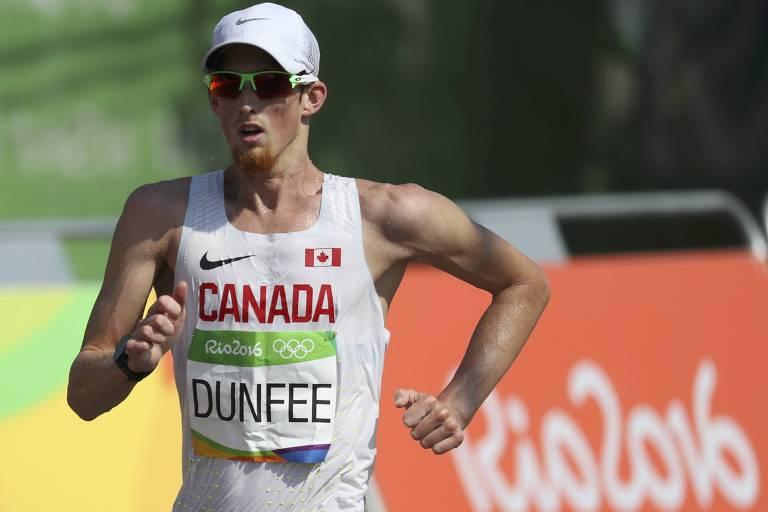 O canadense Evan Dunfee foi o quarto colocado na marcha atlética na Olimpíada do Rio