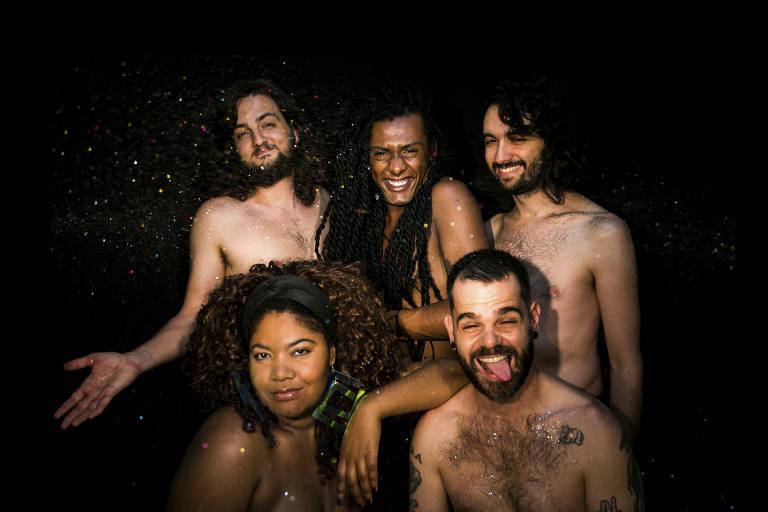 Fotos da banda Liniker & Os Caramelows