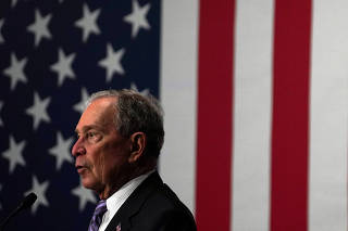 FILE PHOTO: Democratic presidential candidate Michael Bloomberg attends a campaign event at Buffalo Soldiers national museum in Houston