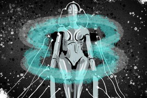Ilustração para especial de Inteligência Artificial, de 20.fev.2020