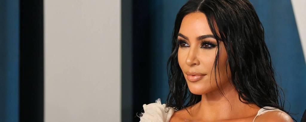 Kim Kardashian no Vanity Fair Oscar Party de 2020