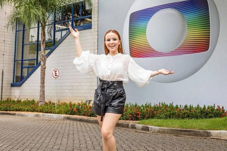 Larissa Manoela nos Estúdios Globo no Rio de Janeiro