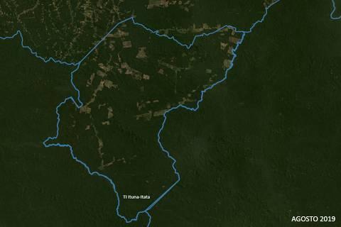 Terra Indígena Ituna Itatá em agosto de 2019