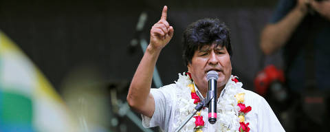FILE PHOTO: Bolivia's former President Evo Morales delivers a speech during a celebration of Bolivia's Plurinational State Foundation Day, in Buenos Aires, Argentina January 22, 2020. REUTERS/Mariana Greif/File Photo ORG XMIT: FW1