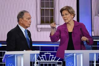 Democratic party presidential hopefuls hold televised debate