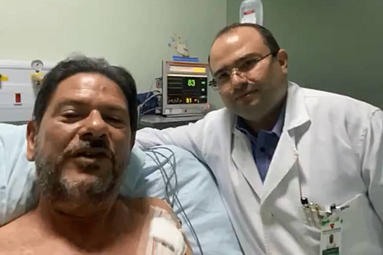 Cid Gomes grava vídeo na UTI e diz que equipe médica salvou sua vida