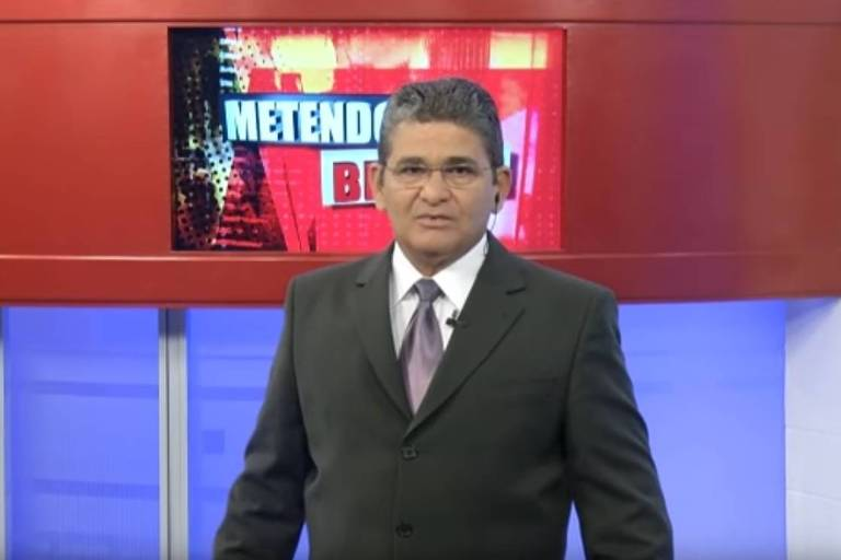 Joaquim Campos, apresentador da RBA (Rede Brasil Amazônica), afiliada da TV Band em Belém