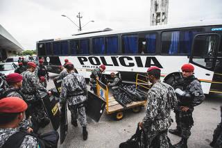 Tropas da Força Nacional de Segurança chegam a Fortaleza