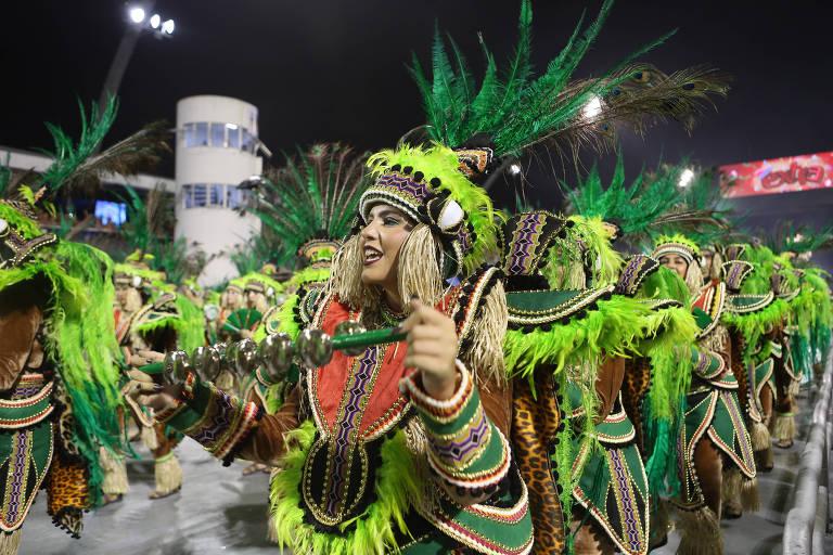 Desfile da Mancha Verde, escola campeã do Carnaval 2019